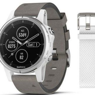 i7 shop - купить Спортивные часы Garmin Fenix 5S Plus Sapphire White Gray (010-01987-05)