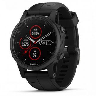 i7 shop - купить Спортивные часы Garmin Fenix 5 Plus Sapphire Black with Black Silicone 010-01988-79 (F00181729)