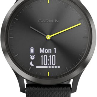 i7 shop - купить Спортивные часы Garmin Vivomove HR Black with Black Silicone Band (010-01850-11)