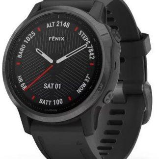 i7 shop - купить Спортивные часы Garmin Fenix 6S Sapphire Black with Black Band