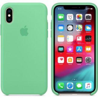 i7 shop - купить Чехол (Silicone Case) для iPhone X Green