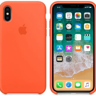 i7 shop - купить Чехол (Silicone Case) для iPhone X / iPhone XS Original Orange