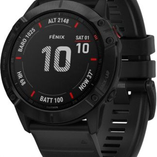 i7 shop - купить Спортивные часы Garmin Fenix 6X Pro Black with Black Band (010-02157-01)