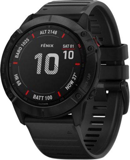 i7 shop - купить Спортивные часы Garmin Fenix 6X Pro Black with Black Band (010-02157-01)