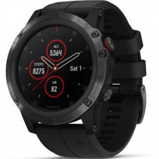 i7 shop - купить Спортивные часы Garmin Fenix 5 Plus Sapphire Black (с датчиком пульса Garmin HRM-Tri)