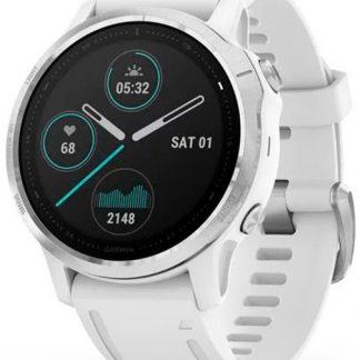 i7 shop - купить Смарт-часы Garmin Fenix 6S Silver with White Band (010-02159-00)