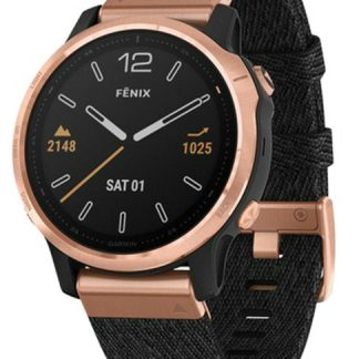 i7 shop - купить Спортивные часы Garmin Fenix 6S Sapphire Rose Goldtone with Heathered Black Nylon Band