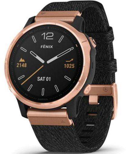 i7 shop - купить Спортивные часы Garmin Fenix 6S Sapphire Rose Goldtone with Heathered Black Nylon Band