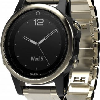 i7 shop - купить Спортивные часы Garmin Fenix 5S Sapphire Champagne with Metal Band (010-01685-15)