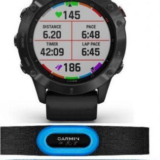 i7 shop - купить Спортивные часы Garmin Fenix 6 Pro Black (010-02158-02) с датчиком пульса Garmin HRM-Tri+Swim