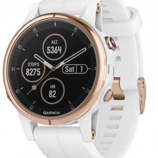 i7 shop - купить Спортивные часы Garmin Fenix 5S Plus Sapphire Rose Gold-tone with White Band (010-01987-07)
