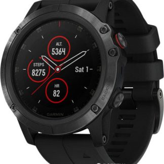 i7 shop - купить Спортивные часы Garmin Fenix 5X Plus Sapphire Black with Black Band (010-01989-01)