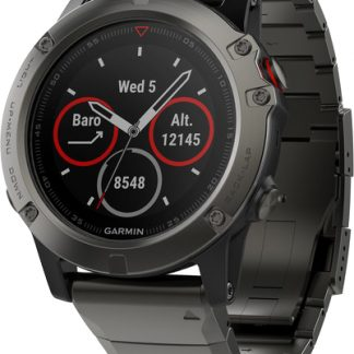 i7 shop - купить Спортивные часы Garmin Fenix 5X Sapphire Slate Gray with Metal Band (010-01733-03)