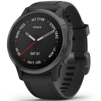 i7 shop - купить Смарт-часы Garmin Fenix 6S Carbon Gray DLC with Black Band (010-02159-25)