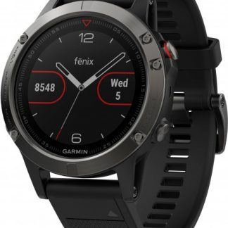 i7 shop - купить Спортивные часы Garmin Fenix 5 Slate Gray with Black Band (010-01688-00)