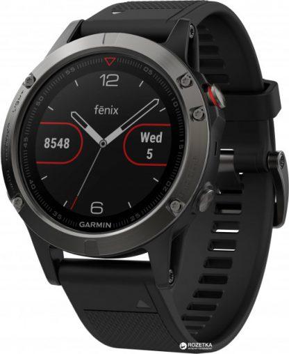 i7 shop - купить Спортивные часы Garmin Fenix 5 Slate Gray with Black Band (010-01688-00)
