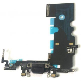 """i7 shop - купить Шлейф зарядки iPhone 8 (4.7"""") Charge Black (нижний порт черный)"""
