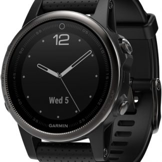 i7 shop - купить Спортивные часы Garmin Fenix 5S Sapphire Black with Black Band (010-01685-11)