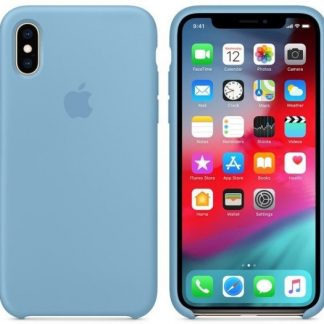 i7 shop - купить Чехол (Silicone Case) для iPhone X / iPhone XS Original Cornflower