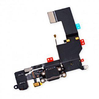 i7 shop - купить Шлейф iPhone 5s с разъемом зарядки и HF коннектором (Black) Original