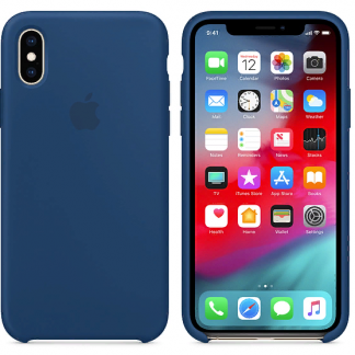 i7 shop - купить Чехол (Silicone Case) для iPhone X / iPhone XS Blue