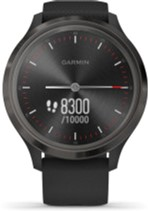 i7 shop - купить Спортивные часы Garmin Vivomove 3 Slate Stainless Steel Bezel w. Black and Silicone B. (010-02239-01)
