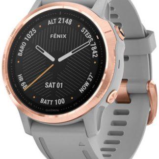 i7 shop - купить Спортивные часы Garmin Fenix 6S Sapphire Rose Gold-tone with Powder Gray Band (010-02159-21)